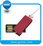 Clé de mémoire USB rotatoire en métal mini
