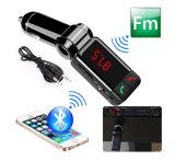 Transmisor sin manos vendedor caliente del coche FM de Bluetooth con el cargador dual del coche del USB (BC06B)