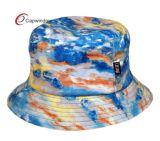 Chapéu tingido colorido do pescador da cubeta