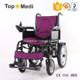 Cadeira de rodas elétrica de dobramento da potência do aço do equipamento médico de Topmedi