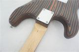 Soem-ODMfester Zebrawood-Karosserie Strato Großhandelstyp elektrische Gitarre