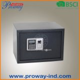 Segurança caixa de impressão digital com display LCD para uso doméstico, 13,8 x 9,8 x 9,8 polegadas