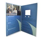 Pantalla LCD tarjeta personalizada del vídeo del saludo / Vídeo Folleto