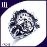 Crear el anillo retro del cráneo para requisitos particulares de los hombres