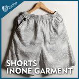 076 Mens do pedido do supermercado nadam Shorts ocasionais da placa das calças curtas