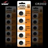 Batteria popolare 3V Cr2032 delle cellule del tasto del litio
