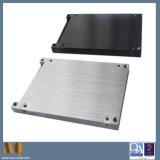 Alumínio de trituração do CNC das peças do metal de folha que mmói preto anodizado (MQ730)