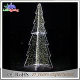Luz morna da árvore de Natal do diodo emissor de luz do branco do projeto ao ar livre da estrutura da esfera
