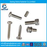 DIN7981 DIN7982 DIN7985 Parafuso de fixação Parafuso auto-roscado Parafuso de máquina Cabeça de panela Cabeça de cais embutida Parafuso de aço inoxidável