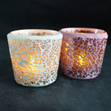 Decoration를 위한 불꽃 없는 Light Battery LED Candle Glass Holder