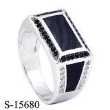 2016 nuovi modelli 925 anelli d'argento degli uomini con smalto cotto