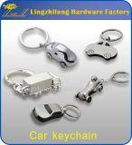 Coche Keychain Shaped de la plata 3D Samll del precio de fábrica