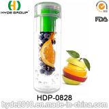 Garrafa de 600ml Promotional Plastic Fruit Infusion água com logotipo personalizado (HDP-0828)