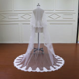 Вуаль венчания шнурка 2 вуалей с гребнем