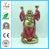 Maitreya仏を笑わせている樹脂仏のPolyresinの骨董品