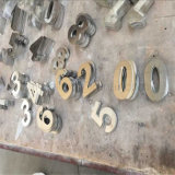 Цифр письма нержавеющей стали цвета волосяного покрова двери 304 гостиничного номера арабский