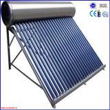 2016 Anticongelante tubo de vacío Sin presión calentador de agua solar