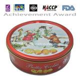 galleta de mantequilla roja del diseño de la Navidad de la lata 250g