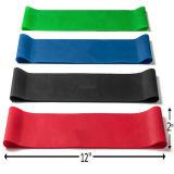 Faixas do estiramento do látex e faixa feita sob encomenda do exercício de resistência das mini faixas do laço