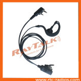 Bidirektionales Radio Two Wire Earhook Earpiece mit New Small Lapel Postverwaltung Buttion