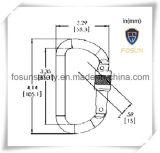 Cinc forjado Carabiner (DS22-1) del acero de aleación
