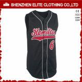 Los hombres de secado rápido de malla jersey de béisbol de mangas