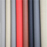 Lichee Muster-Veloursleder Microfiber Leder für Auto-Sitz, Hauseinrichtungsgegenstände