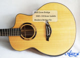 Handmade nivelado mestre toda a guitarra acústica contínua Sg03sk