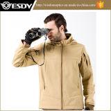 タンカラー屋外の戦術的な防水Hoodieのジャケットの外のコート