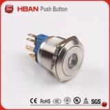 Il Ce RoHS 22mm IP67 impermeabilizza l'interruttore di pulsante dell'acciaio inossidabile con l'anello LED