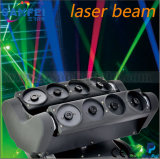 8PCS bajo lupa, Laser Beam RGB luz principal móvil