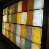 زخرفة حجارة مادّيّة اصطناعيّة رخاميّة شفّانيّة راتينج لوح ([م1610109])