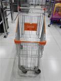 Chariots américains de chariot à achats d'épicerie en métal de type