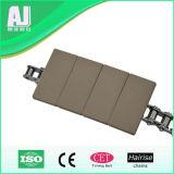 Base d'acier inoxydable et première chaîne de convoyeur durable plate en plastique