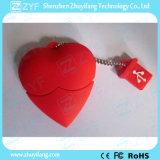 Aandrijving van de Flits van het Ontwerp USB van het Hart van de douane de Rode met Embleem (ZYF5033)