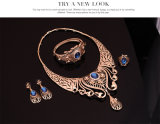 Form-Halsketten-Ohrring-Armbänder schellt goldene 4 PCS gesetzte Schmucksachen der Set-