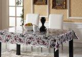 Tablecloth impresso PVC com o ouro ou a prata lateral dobro gravado