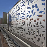 Aluminum perforato Panels con Rhombic Hollow Patterns Cladding