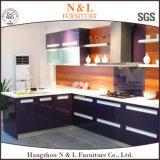 N&L dirigem gabinetes de cozinha de madeira do armário da cozinha da mobília com bancada do granito