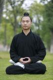 道教のWudang Taiのキーの高級な長袖の人の厚いリネンコート