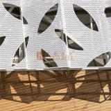 Panneau en aluminium perforé avec motif gravé en feuilles