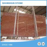 Nette China-korallenrote rote Marmorplatten für Wand und Floooring