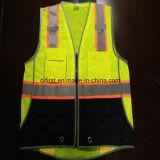 Veste da segurança com a faixa 300d Oxford do cuidado de Relective e o engranzamento