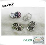Bouton de dispositif de fixation instantané de fourche de perle en métal pour la chemise