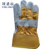 Luvas protetoras Labor curtas do trabalho do couro da soldadura para a construção