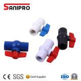 Vário PVC plástico da válvula de esfera do punho feito em China