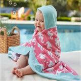 赤ん坊OEMデザインのための100%年の綿のフード付きの浴室タオル