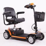 Sale caldo che piega il motorino elettrico adulto di mobilità delle 4 rotelle con la sede di cuoio