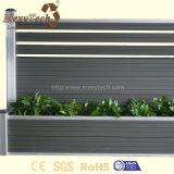 Bois composé bon marché gris foncé extérieur de l'aluminium WPC clôturant pour l'horizontal