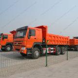 Camión del carro de volquete del descargador de Sinotruk HOWO 6X4 y carro pesado